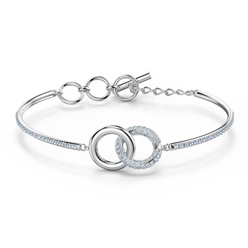 Swarovski Stone Interlocking Rings Bangle 5523953