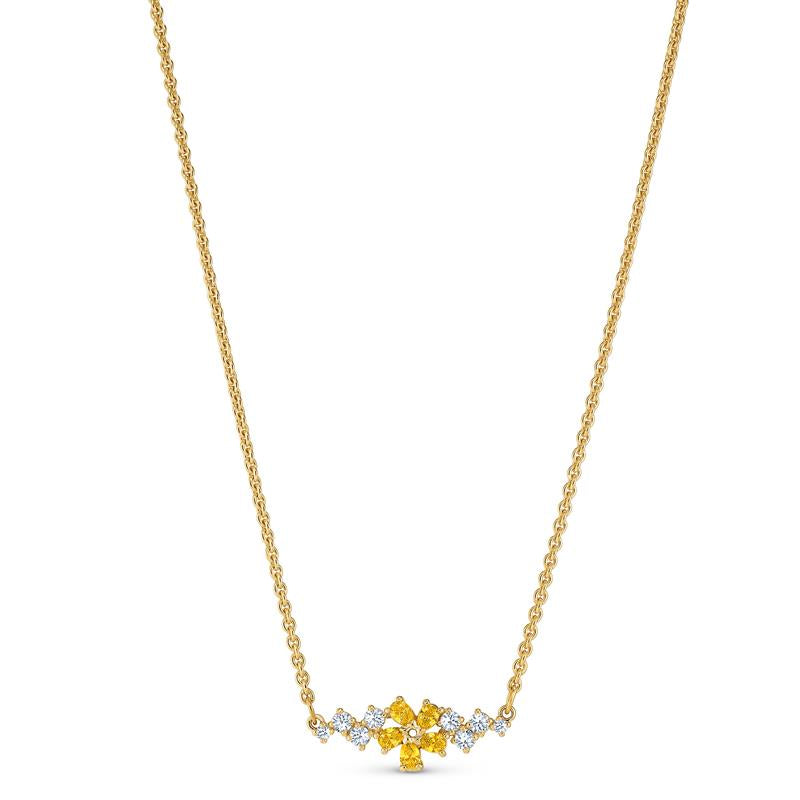 Swarovski Botanical Necklace Yellow Gold 5535781