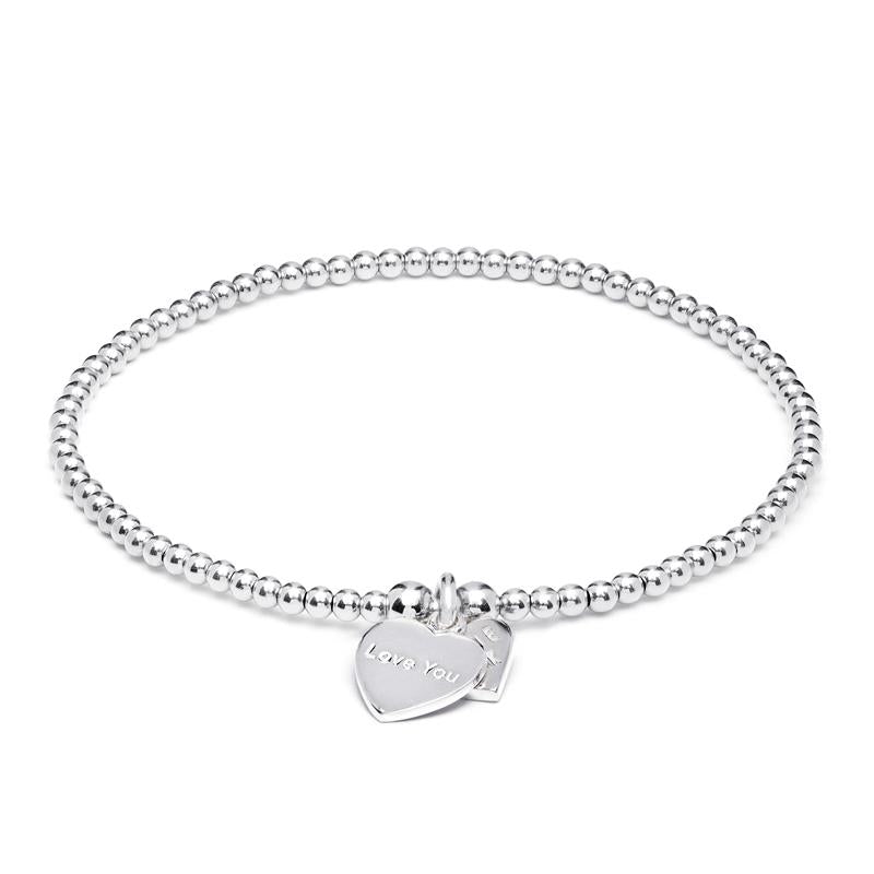 Annie Haak Santeenie Silver 'Love You' Motto Bracelet