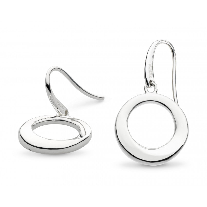Bevel Cirque drop silver earrings