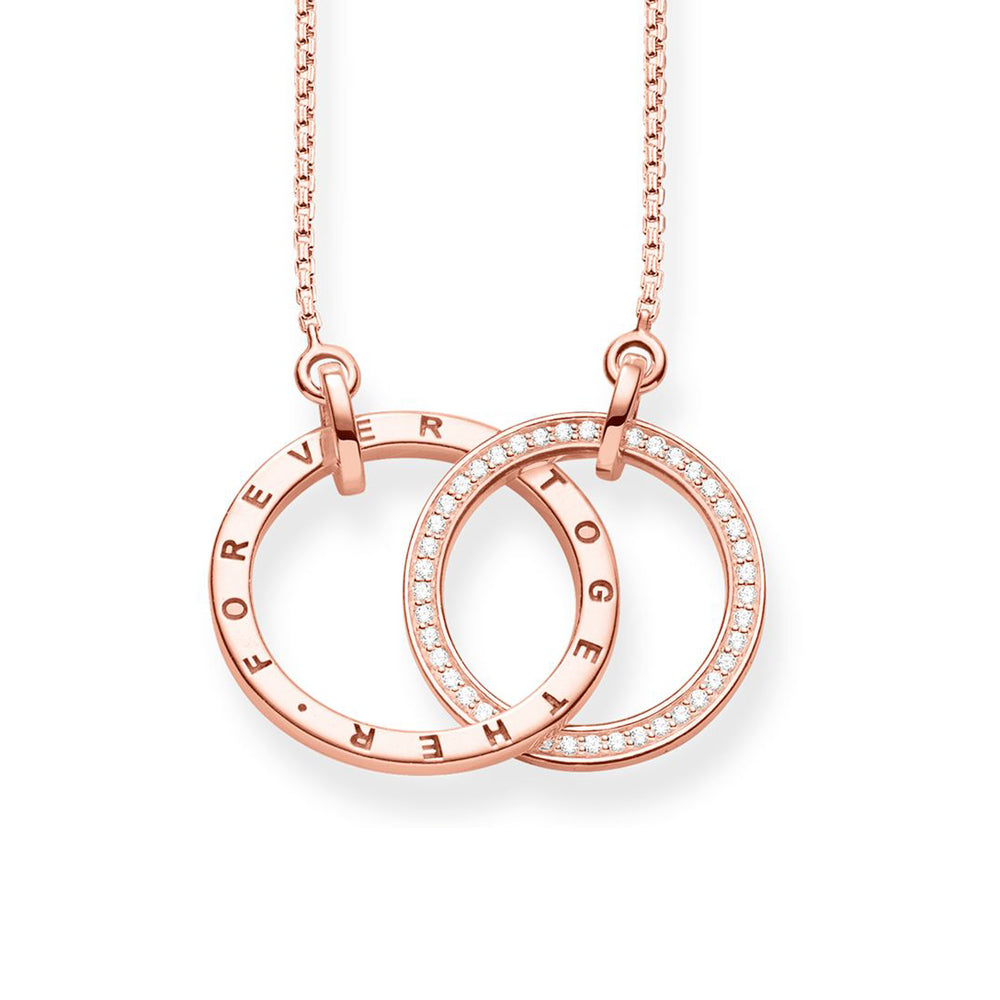 Glam and Soul Together Forever rose gold necklace