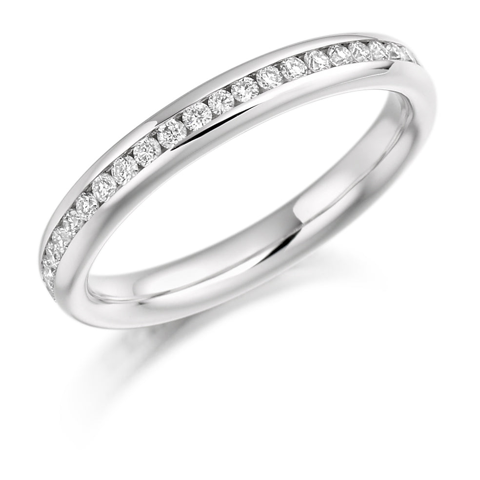 Platinum 0.50ct diamond full set eternity ring (FET889) SIZE M