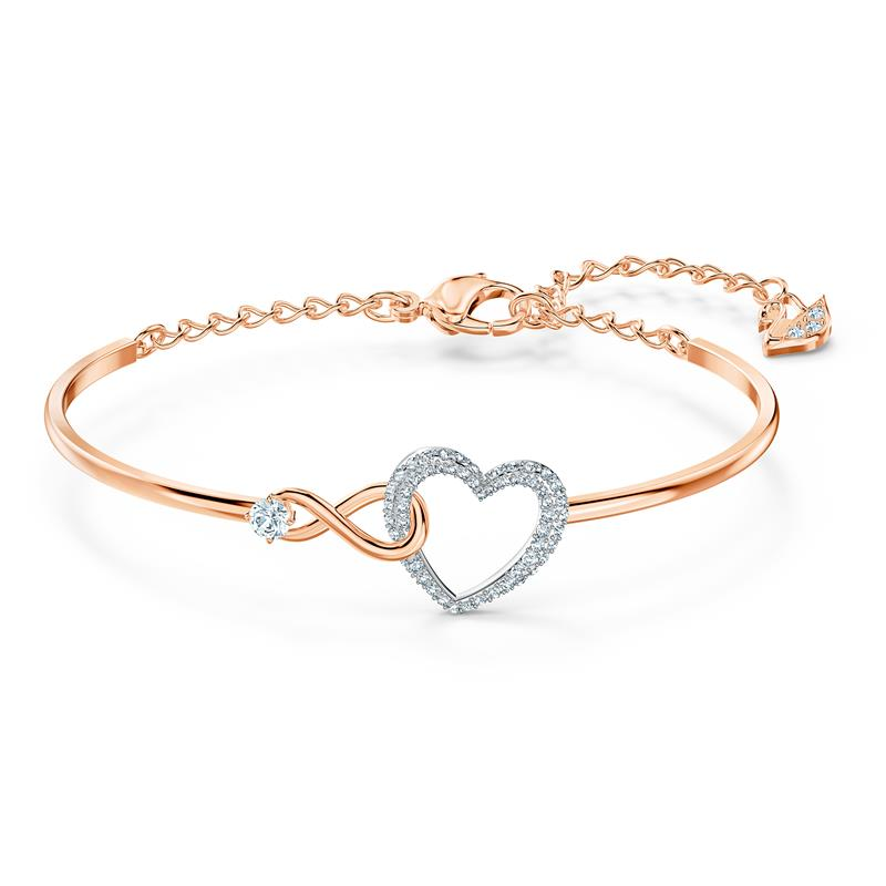 Swarovski Infinity Heart Bangle Mixed Metal 5518869