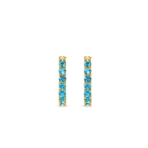 Swarovski Vittore Hoop Earrings Aqua 5514357