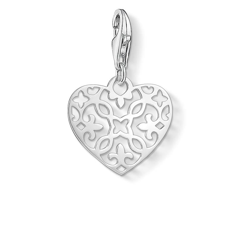 Thomas Sabo Arabesque Silver Heart Charm 1497-001-12