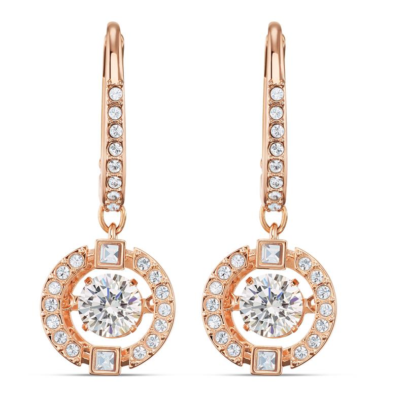 Swarovski Sparkling Dance Earrings Rose Gold 5504753