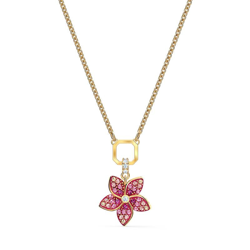 Swarovski Tropical Flower Pendant Pink Gold 5524356