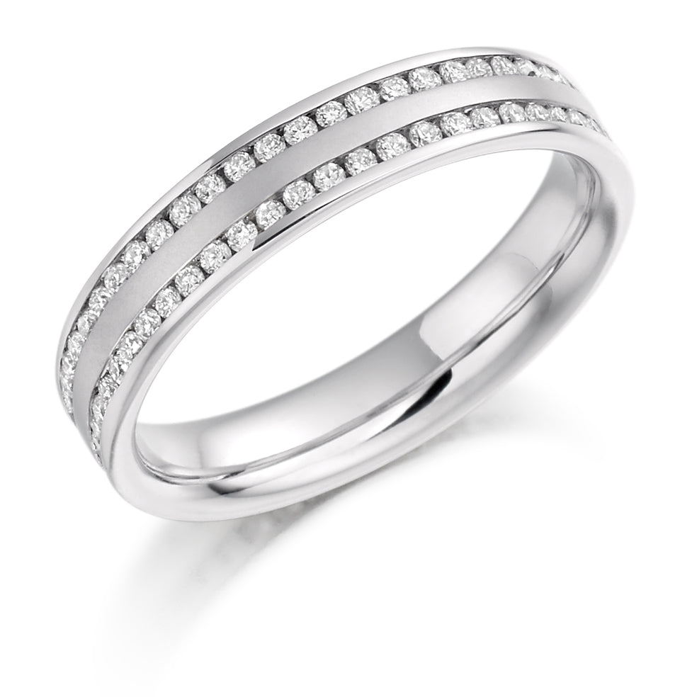 Platinum 1.50ct diamond full set eternity ring (FET922) SIZE M