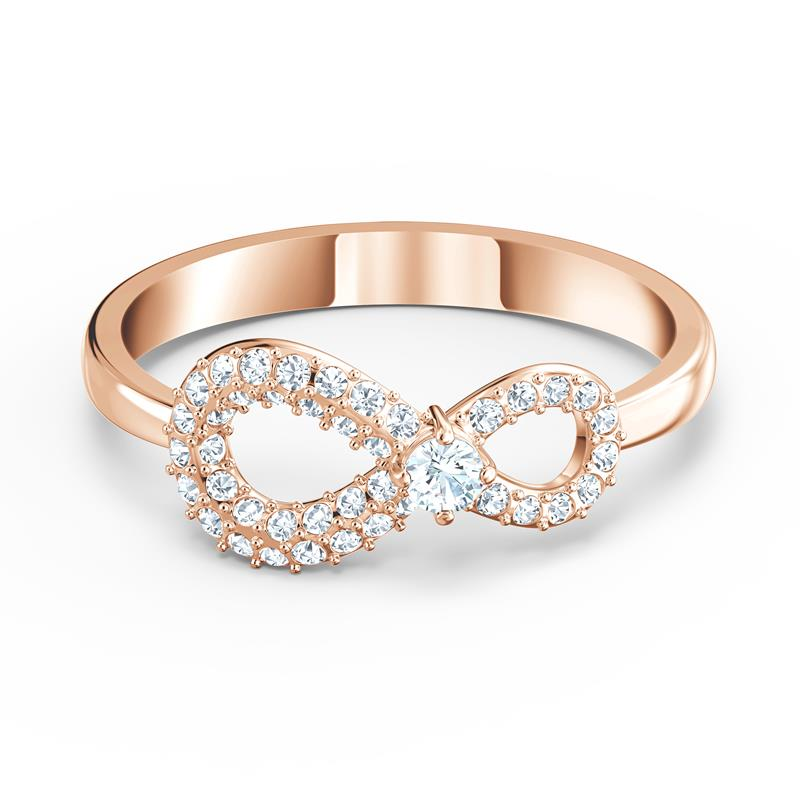 Swarovski Infinity Ring Rose Gold