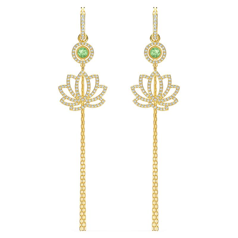 Swarovski Symbolic Lotus Earrings Green 5522840