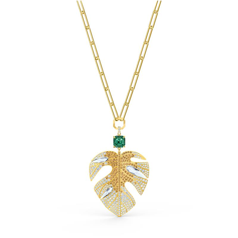 Swarovski Tropical Leaf Gold Pendant 5512695