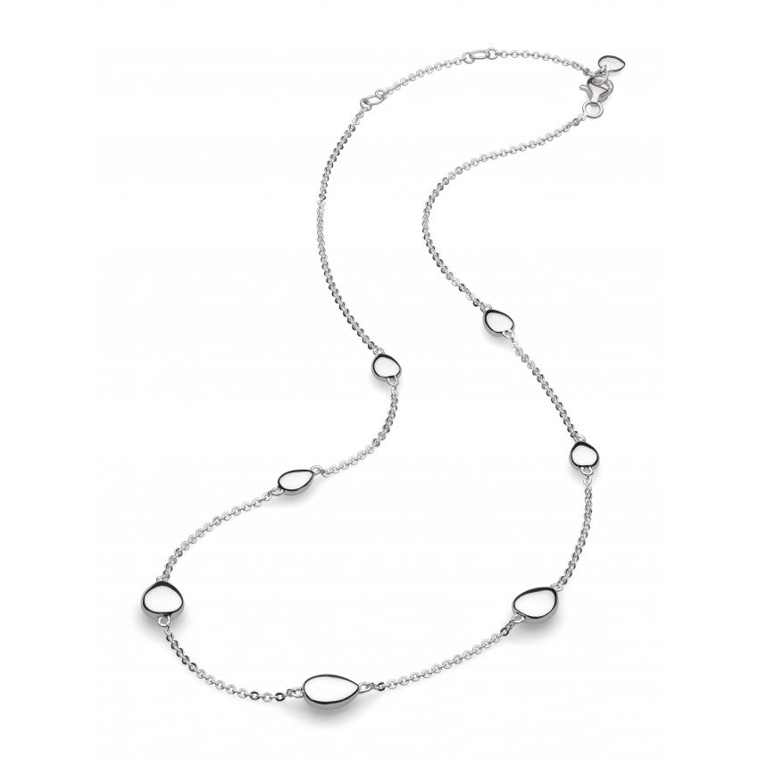 "Coast Tumble 18"" silver necklace"