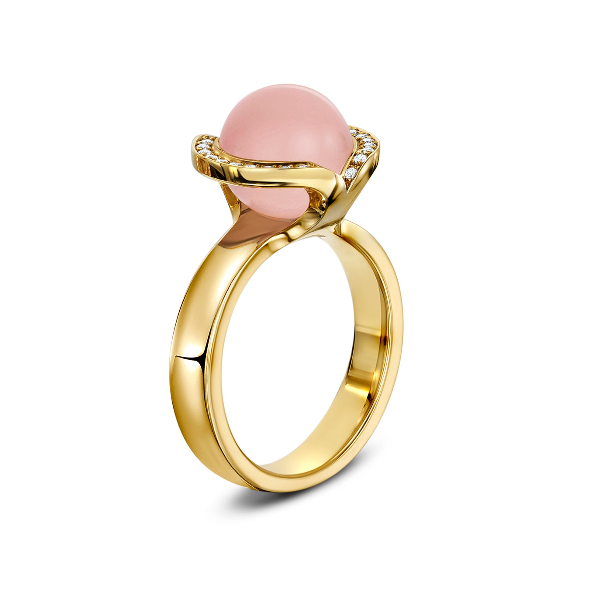 Celestial rose quartz ring