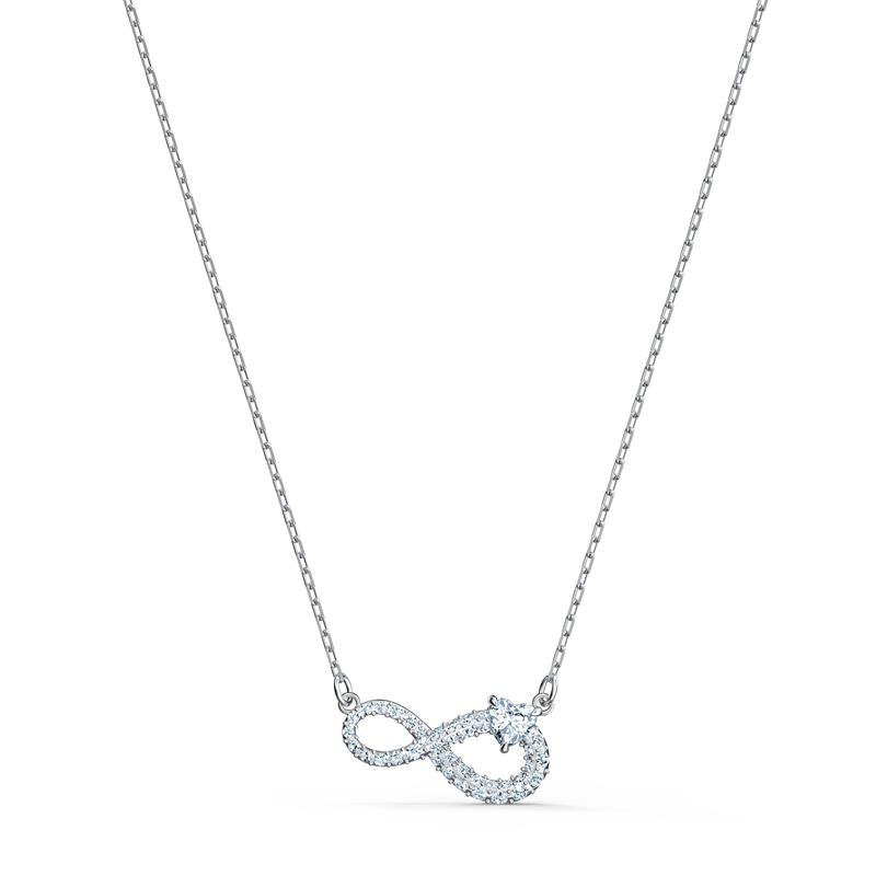Swarovski Infinity Necklace Silver Rhodium 5520576