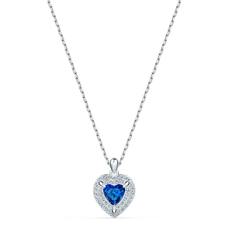 Swarovski One Heart Pendant Necklace - Blue 5511541