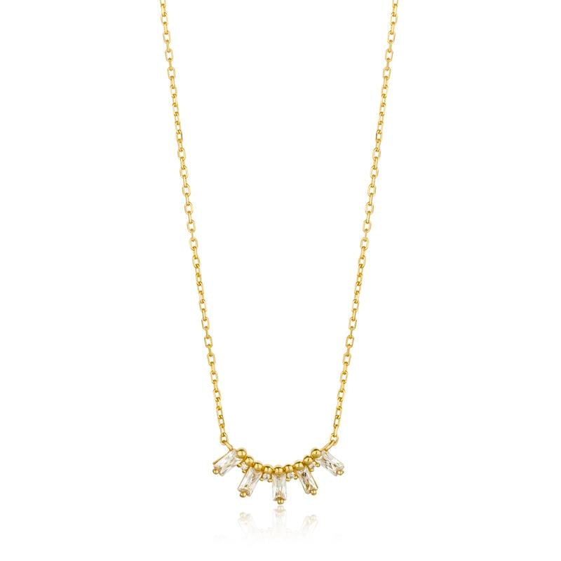 Ania Haie Glow Bar & Zirconia Necklace N018-03G