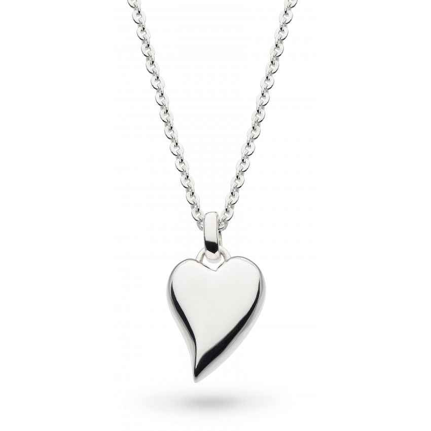 Desire Forever Lust heart silver necklace