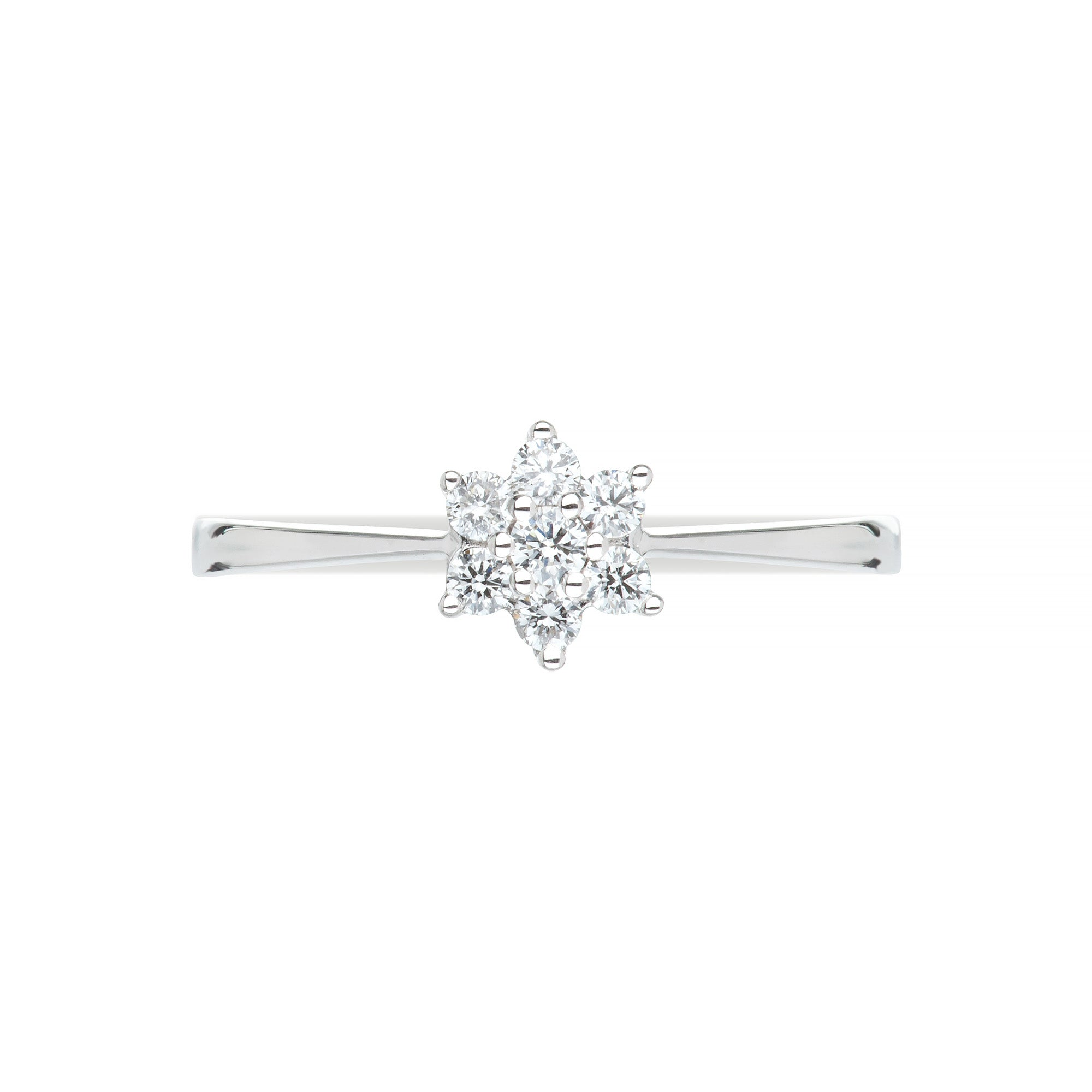 White Gold & Diamond Star Ring