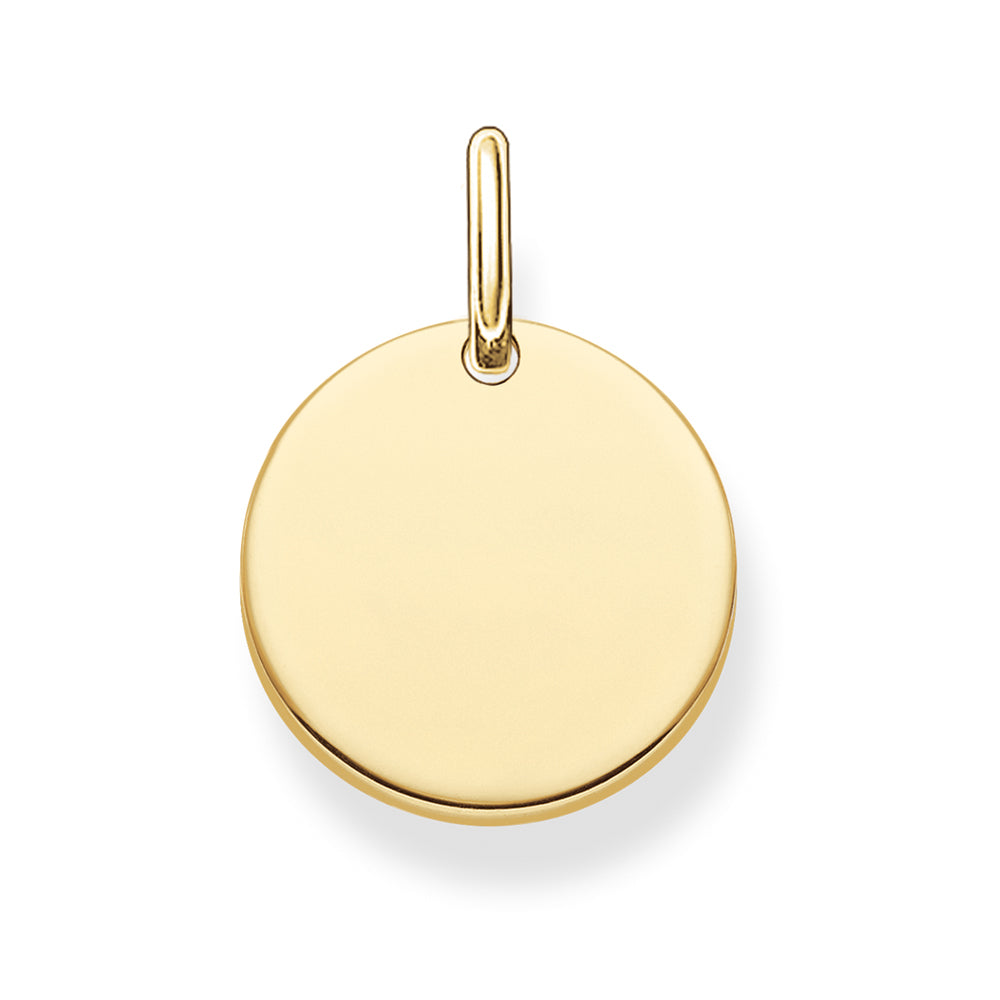 Love Coin gold plain disc charm