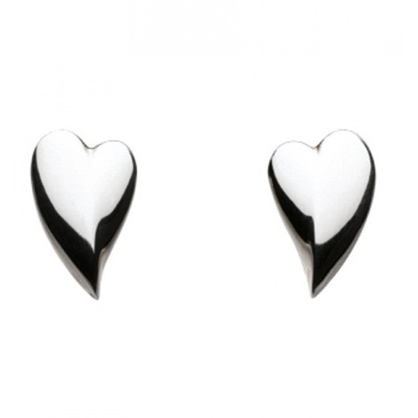 Desire Lust heart silver earrings