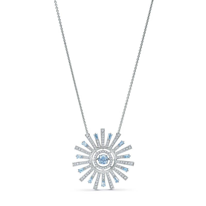 Swarovski Sunshine Sunray Necklace - Blue 5536731