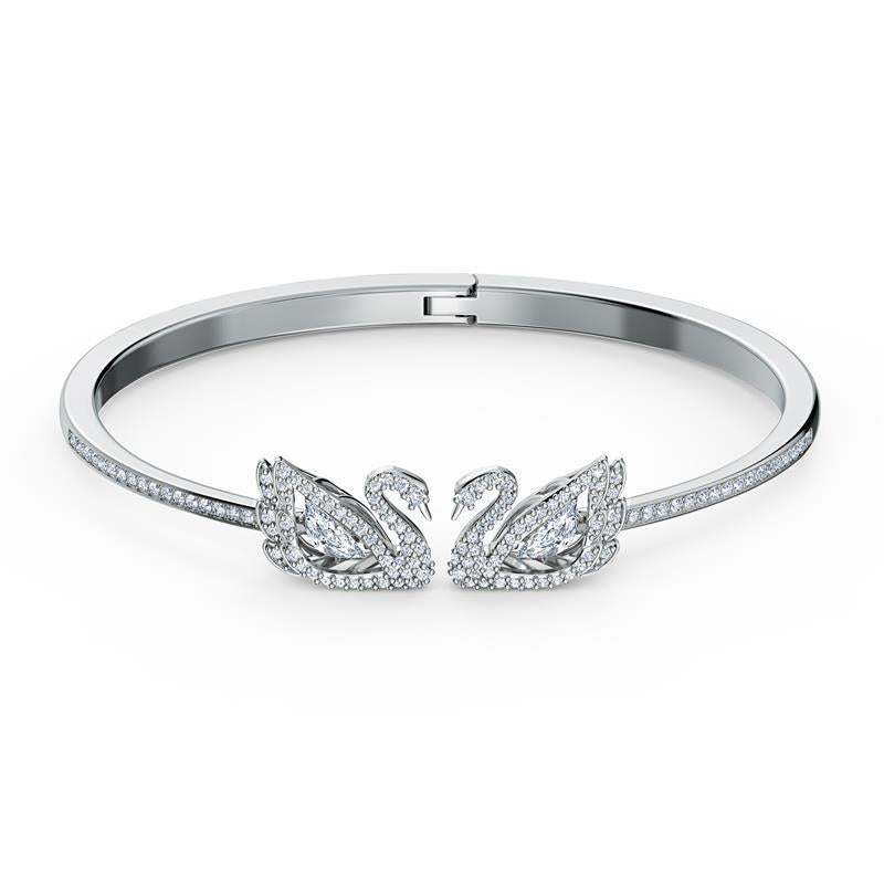 Swarovski Dancing Swan Silver Rhodium Bangle 5520713