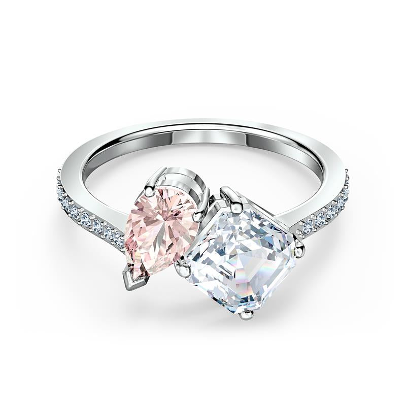 Swarovski Attract Soul Ring Pink & Clear