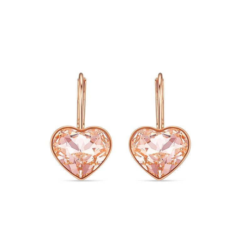 Swarovski Bella Heart Earrings Rose Gold 5515192
