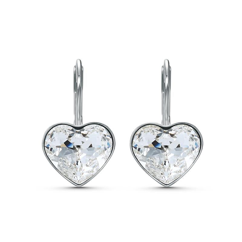 Swarovski Bella Heart Earrings Rhodium 5515191