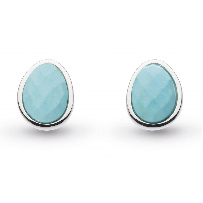 Coast Pebble turquoise silver earrings