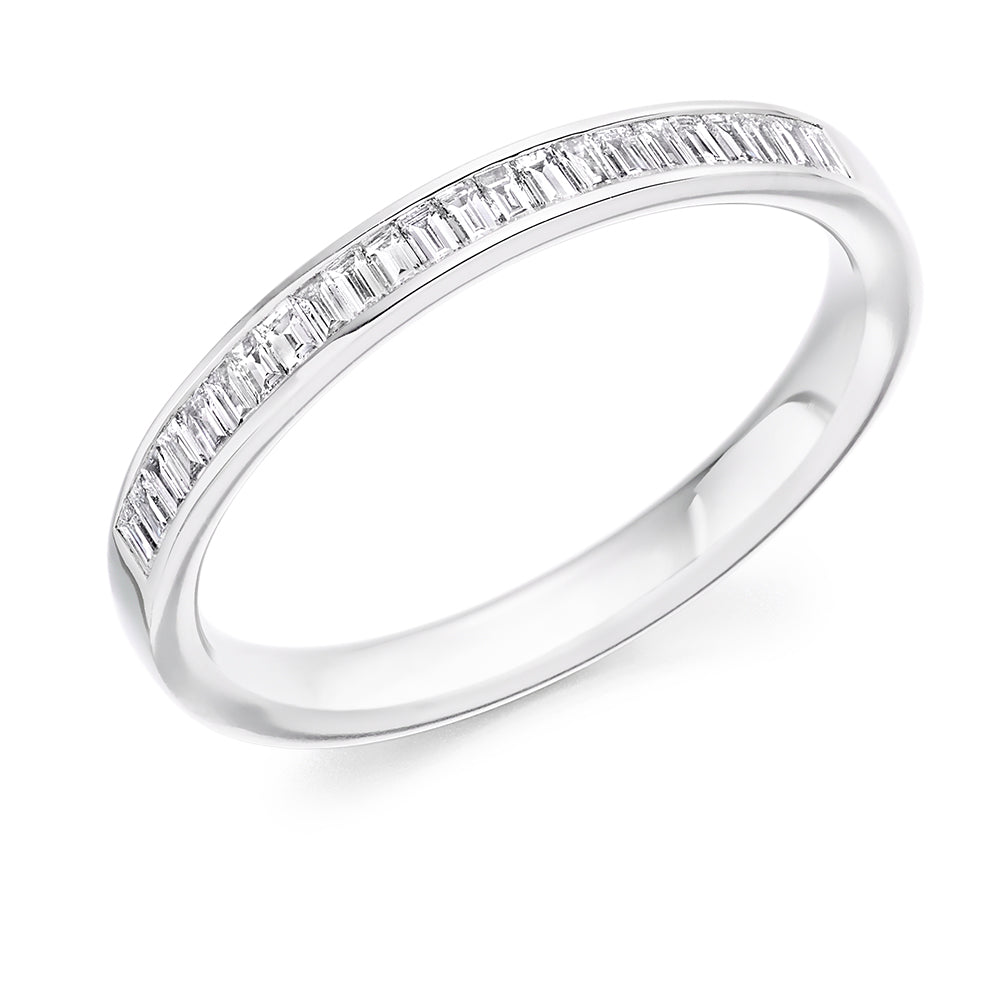 18ct white gold 0.30ct diamond half set eternity ring (HET2948) SIZE M