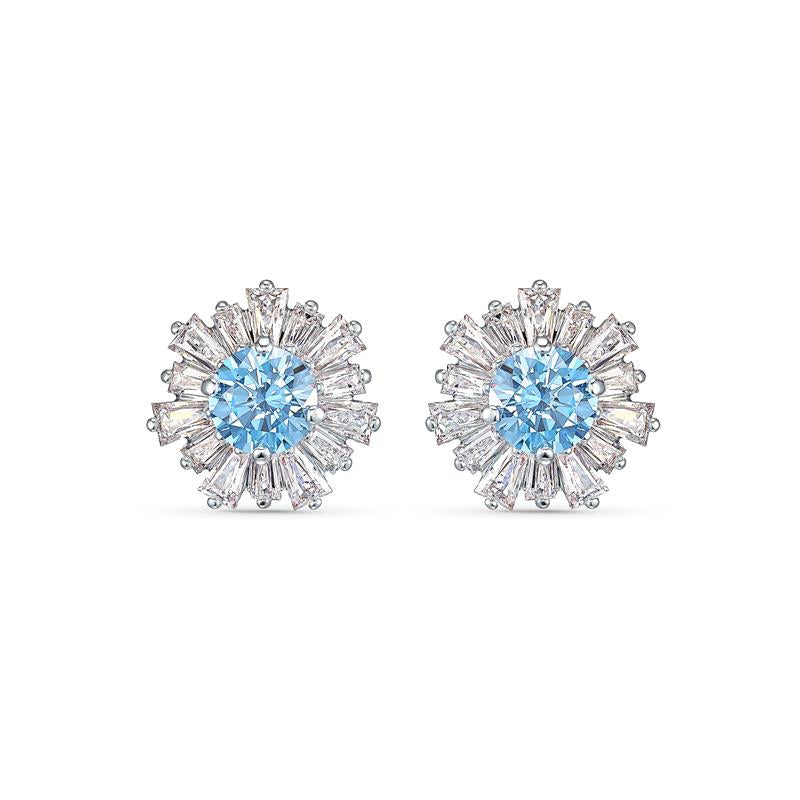 Swarovski Sunshine Stud Earrings - Blue 5536741