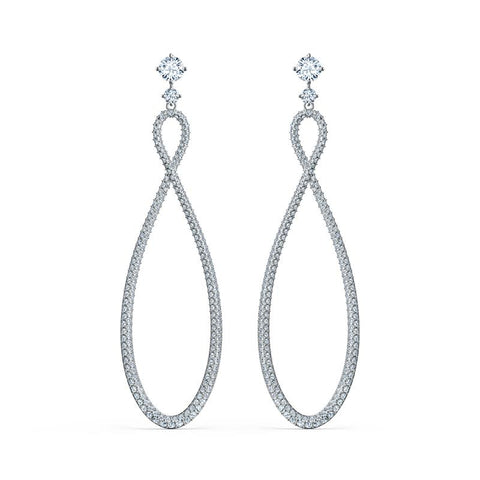 Swarovski Infinity Long Earrings Rhodium 5518878