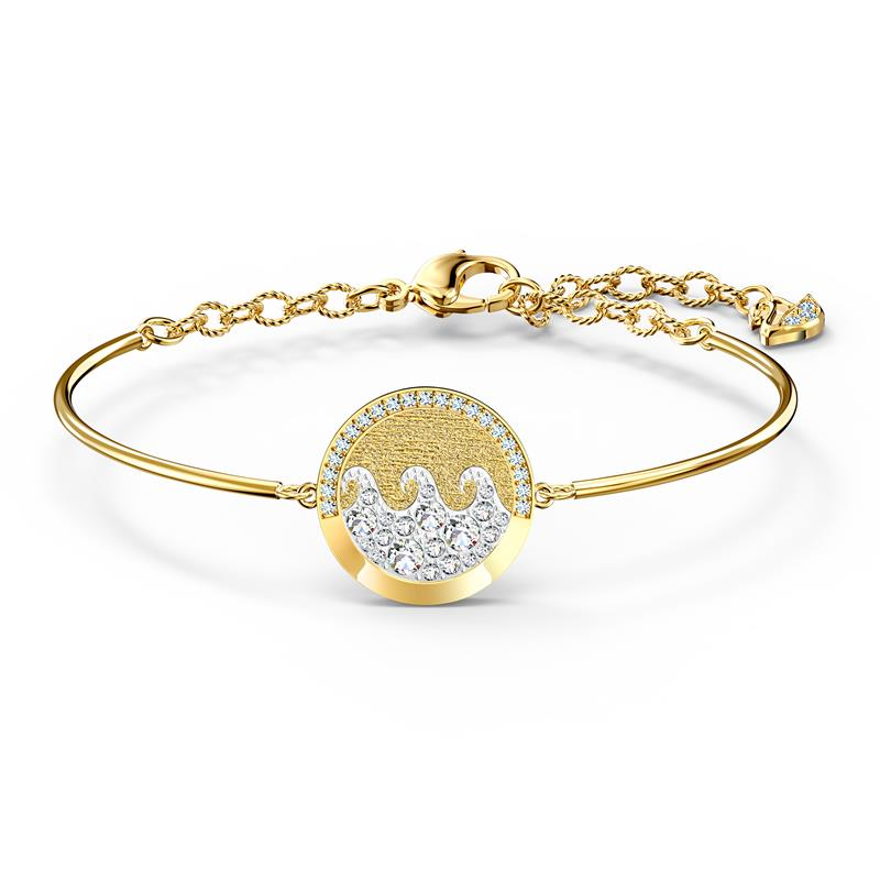 Swarovski Shine Wave Bangle Gold Tone 5524191
