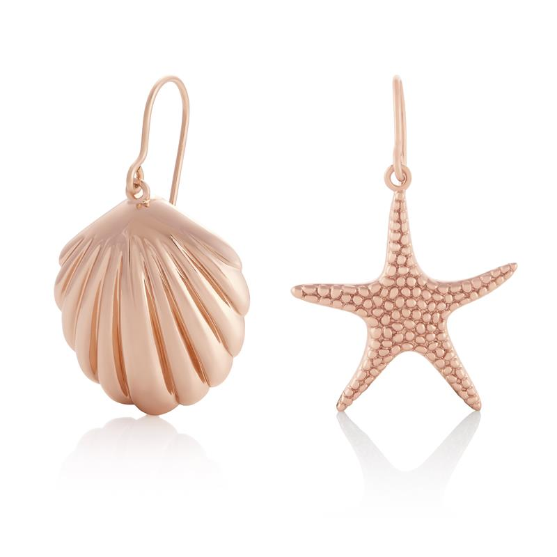 Olivia Burton Shell & Starfish Rose Gold Earrings OBJSCE32