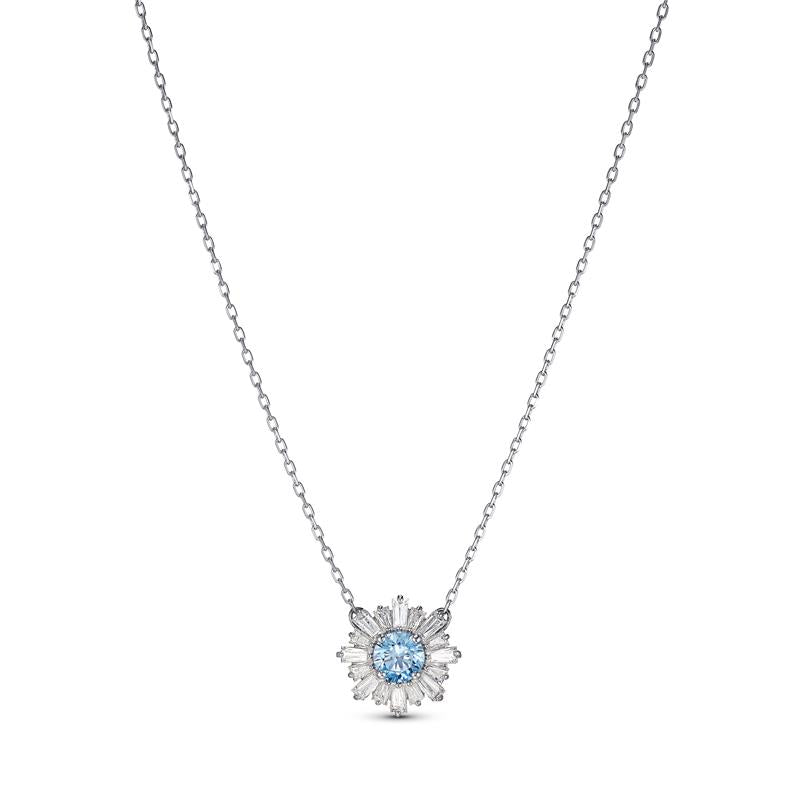 Swarovski Sunshine Pendant Necklace - Blue 5536742