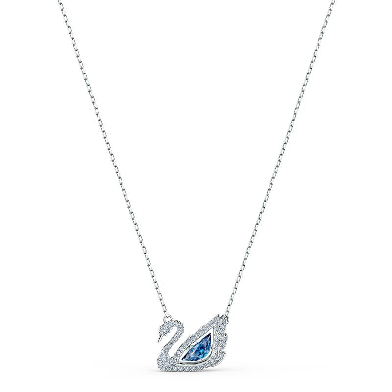 Swarovski Dancing Swan Necklace - Blue 5533397