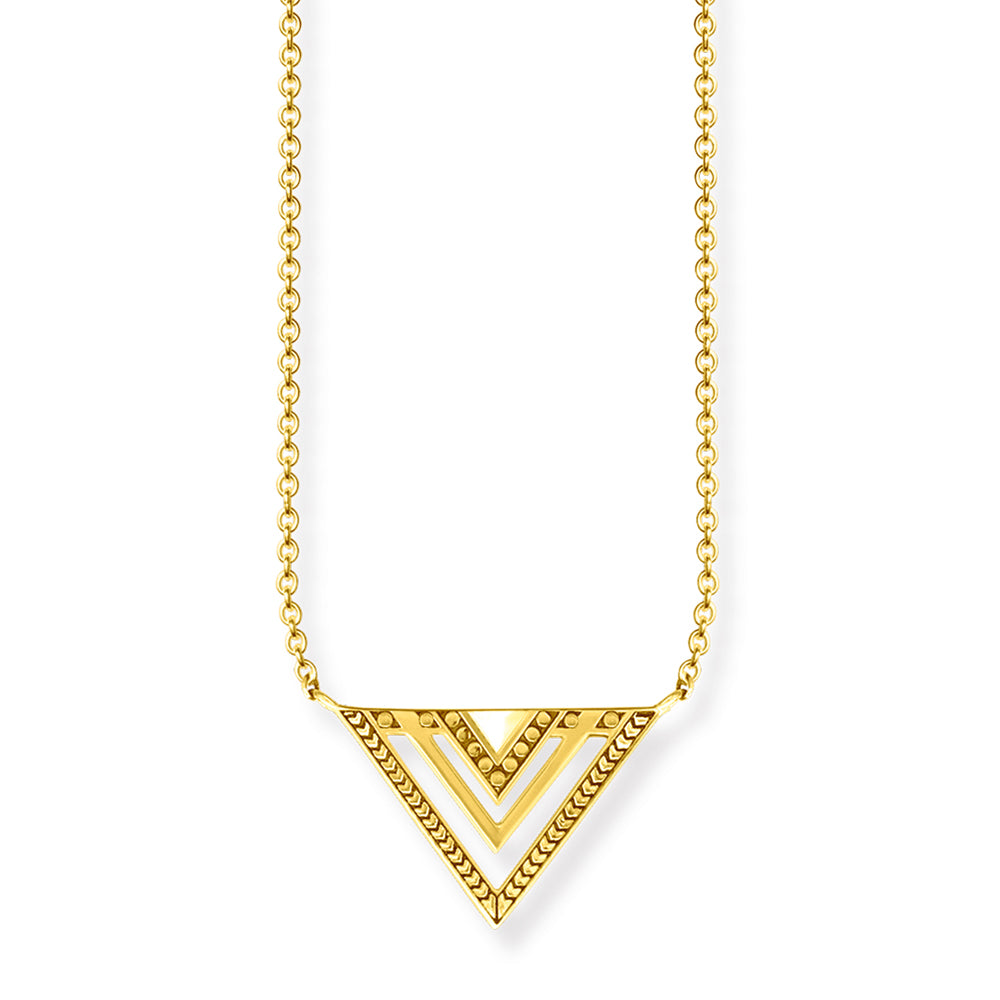 Thomas Sabo Triangle Gold Necklace Ke1568-413-39