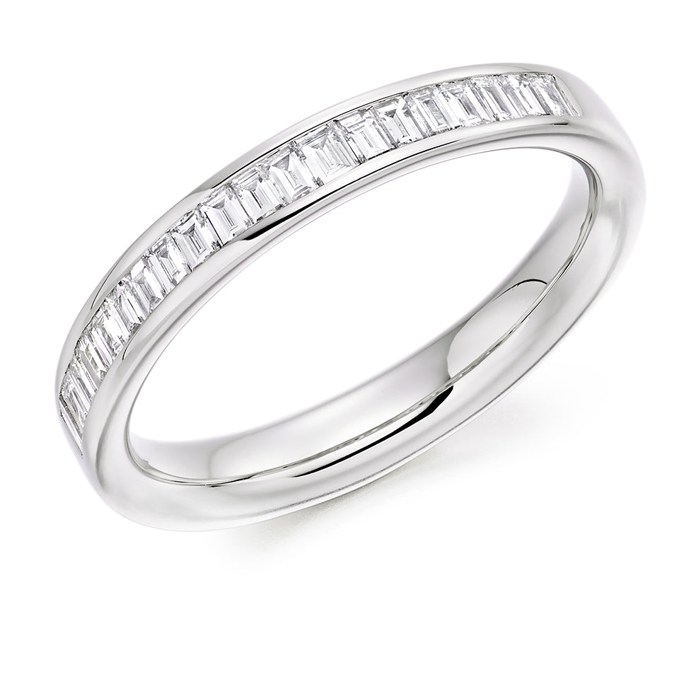 18ct white gold 0.40ct diamond half set eternity ring (HET8005) SIZE M
