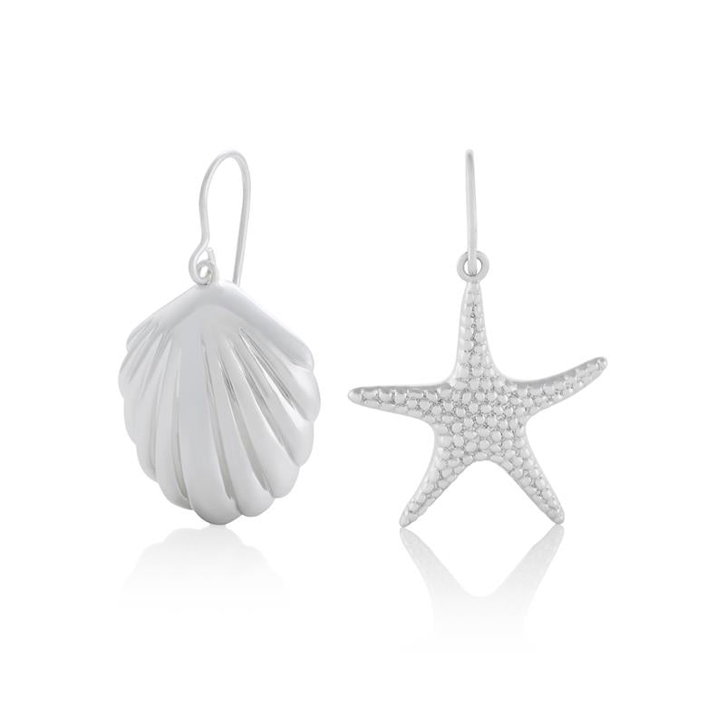 Olivia Burton Shell & Starfish Silver Earrings OBJSCE30