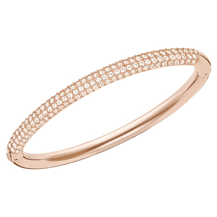 Swarovski Stone Rose Gold Bangle Crystal Pavé