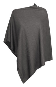 Harvest Poncho Grey melange One size