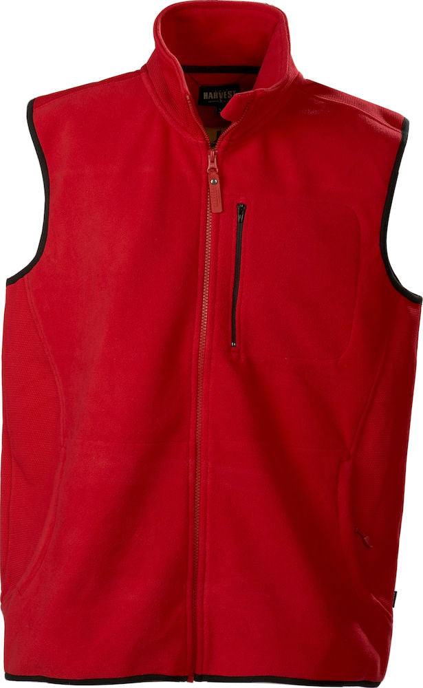Harvest Pasadena fleece vest Red