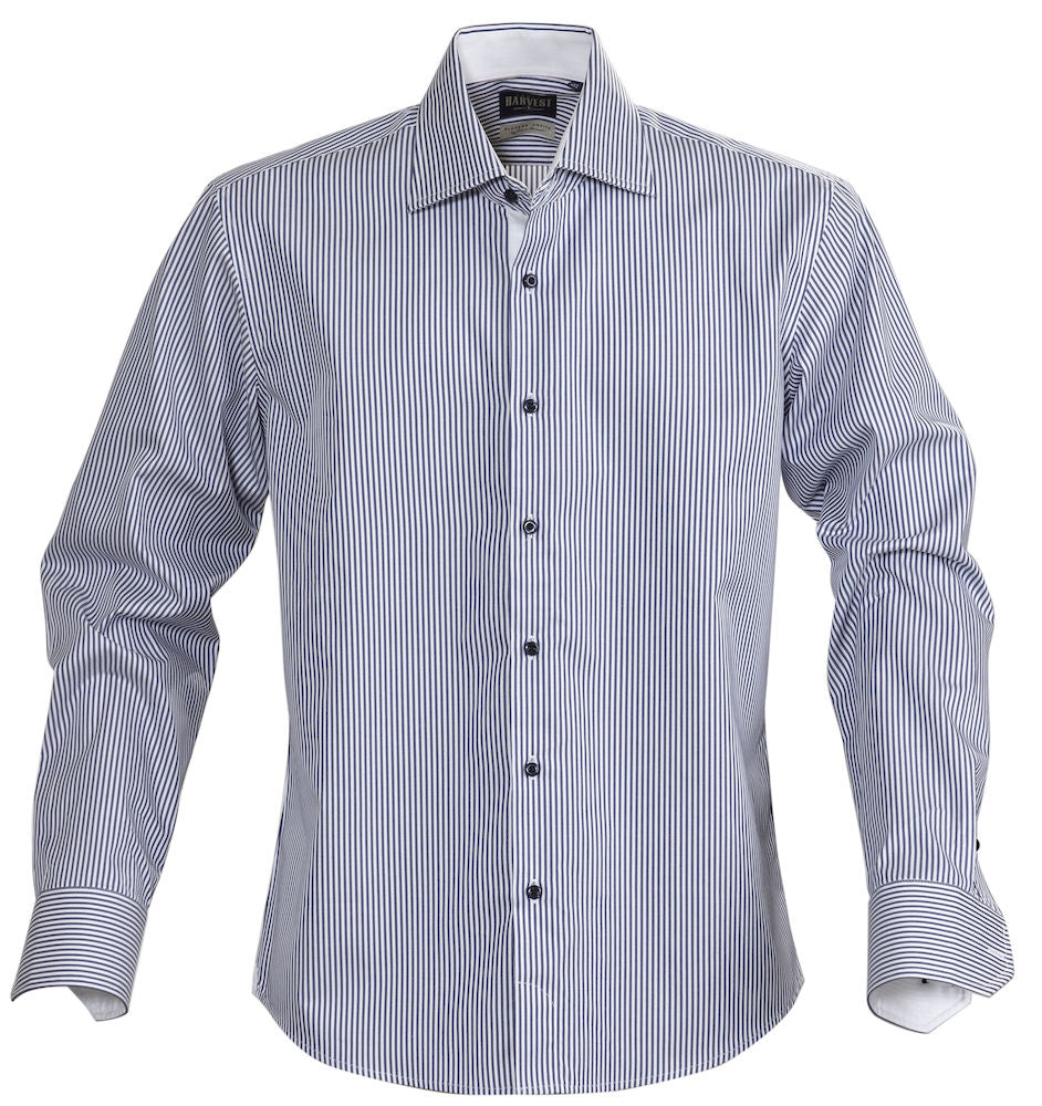 Harvest Reno striped shirt navy