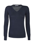 Harvest Westmore Lady merino pullover Navy M