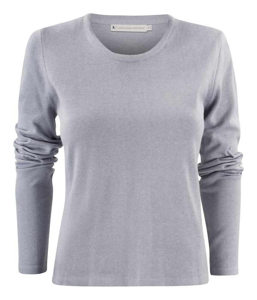 Harvest Portland Lady r-neck pull Grey Melange