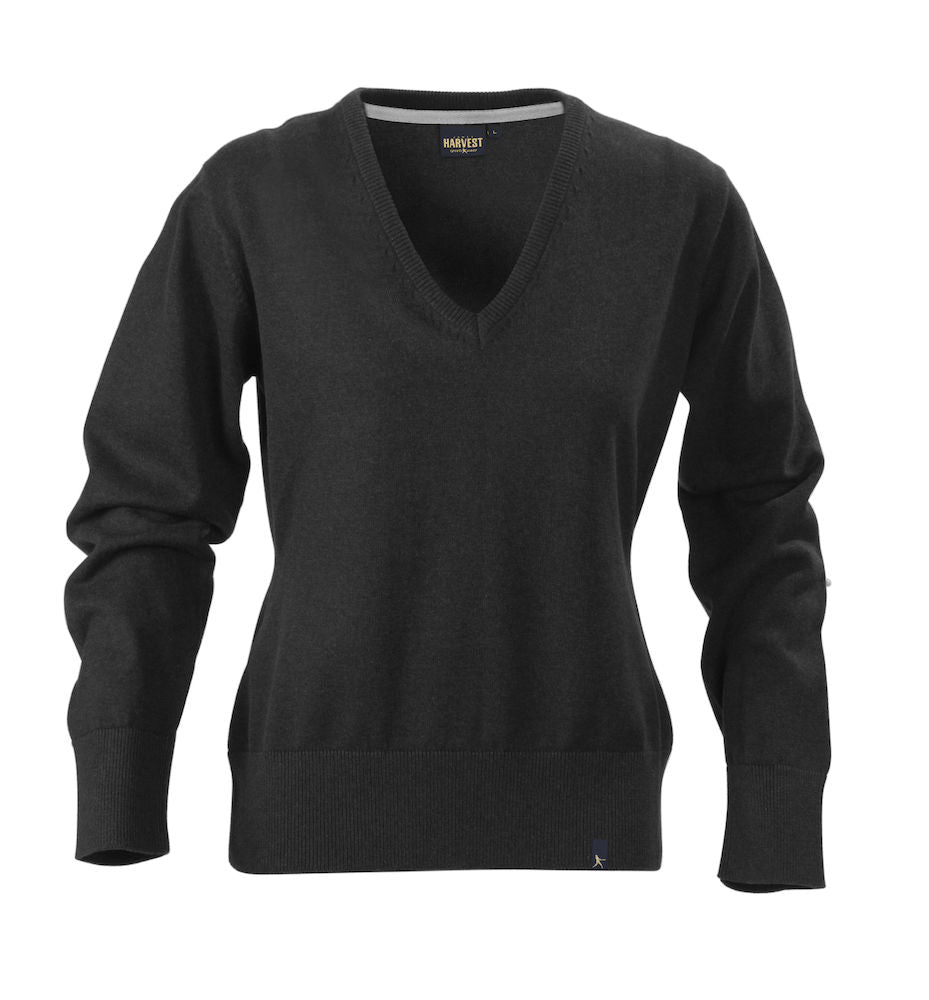 Harvest Loraine Ladies v-neck Black melange