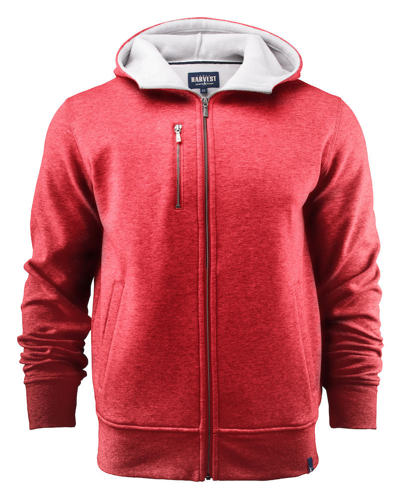 Harvest Parkwick hooded jacket Red melange