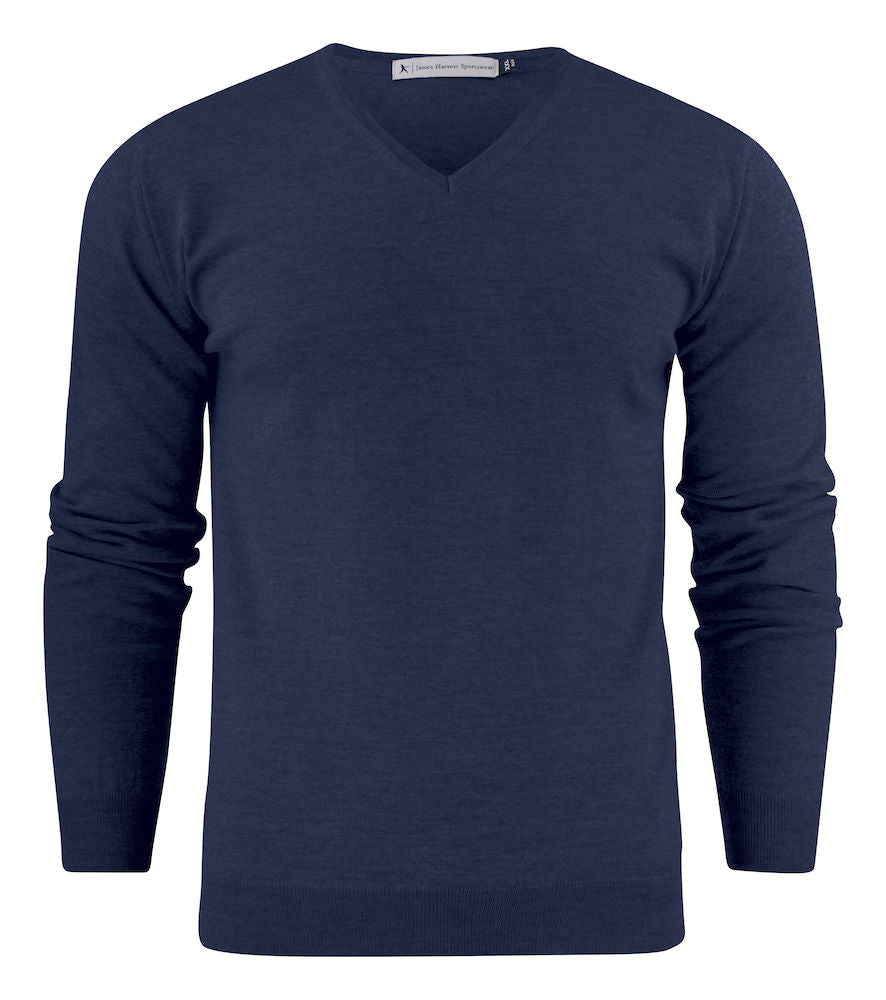 Harvest Westmore merino pullover Navy M