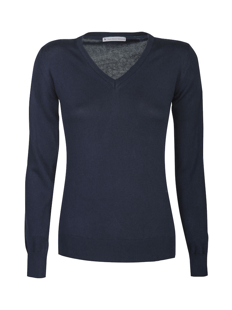 Harvest Westmore Lady merino pullover Navy L